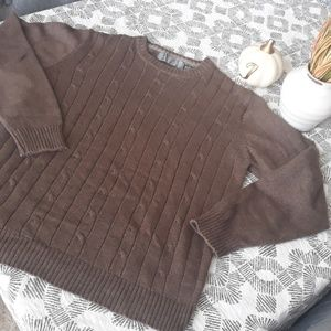 Oscar De La Renta cable knit sweater M
